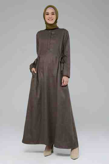 Lyla Dress Brown image