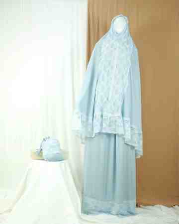 Annisa Prayer Robe Dusty Blue B image