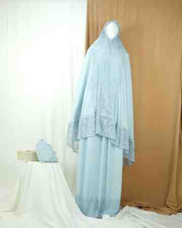 Annisa Prayer Robe Dusty Blue A image
