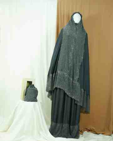 Annisa Prayer Robe Grey image