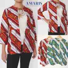 Amaris Fashion - Blouse Batik E28 - Baju Batik Rompi - Batik Fashion Wanita
