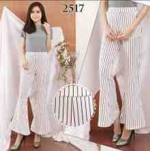 Amaris Fashion - Celana Cutbray Putih Salur - Celana Wanita Kekinian - Cutbray Pants - NEW PRODUCT