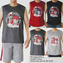 Amaris Fashion - Singlet Pria Dewasa - Kaos Kutang Kasual / Tanktop Gym / Without Sleveless