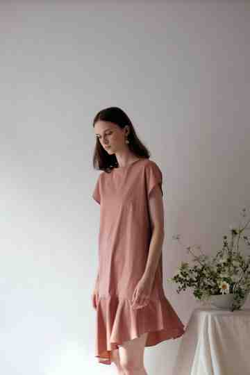 Salmon Margo Dress