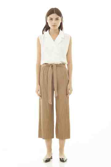 Roselyn Pleats Pant - Khaki