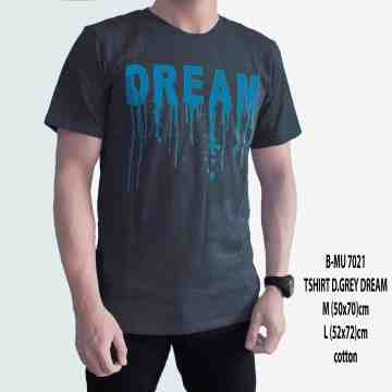 T SHIRT DISTRO DARK GREY DREAM 7021
