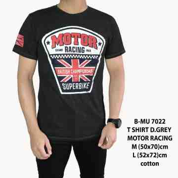 T SHIRT DISTRO DARK GREY MOTOR RACING 7022