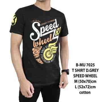 T SHIRT DARK GREY SPEED WHEEL 7025