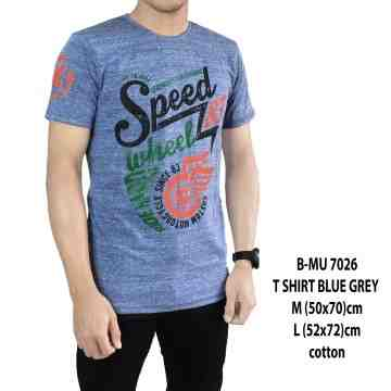 T SHIRT DISTRO BLUE GREY SPEED WHEEL 7026