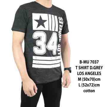 T SHIRT DISTRO DARK GREY LOS ANGELES 7037