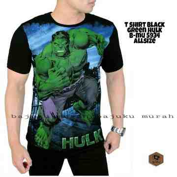 TSHIRT BLACK GREEN HULK 5934