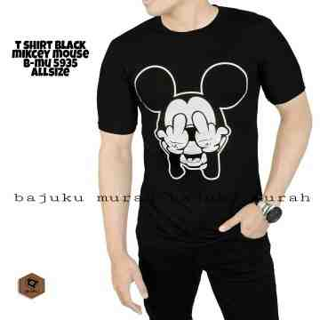 TSHIRT DISTRO BLACK MICKEY MOUSE 5935