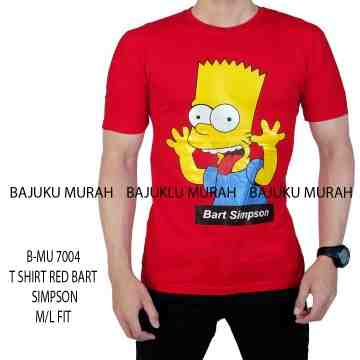 TSHIRT RED BART SIMPSON 7004