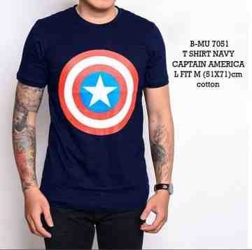 TSHIRT NAVY CAPTAIN AMERICA 7051