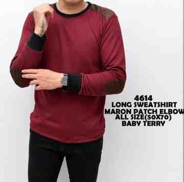 SWEATSHIRT MAROON PATCH ELBOW 4637