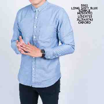 KEMEJA PANJANG SOFT BLUE SIMPLE 5921