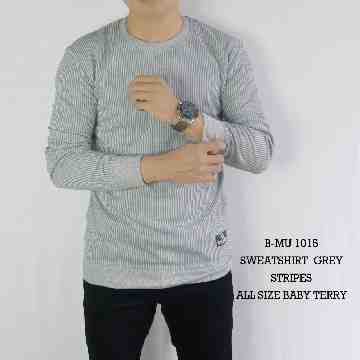 SWEATSHIRT GREY STRIPES 1015