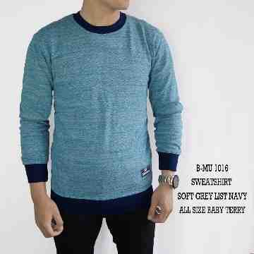 SWEATSHIRT SOFT BLUE LIST NAVY 1016