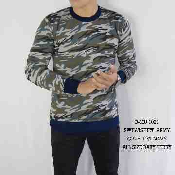 SWEATSHIRT ARMY GREY LIST NAVY 1021