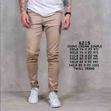 CELANA CHINOS CREAM SIMPLE 6215