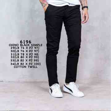 CELANA CHINOS BLACK SIMPLE 6196