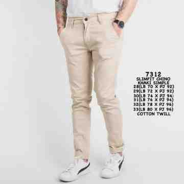 CELANA CHINOS KHAKI SIMPLE 5774