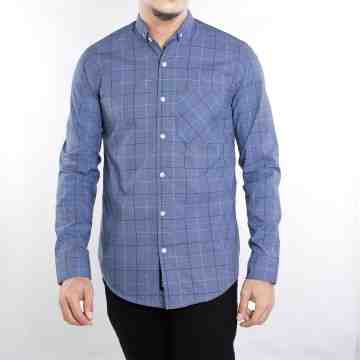 KEMEJA PANJANG BLUE TARTAN MIX SOFT BLUE