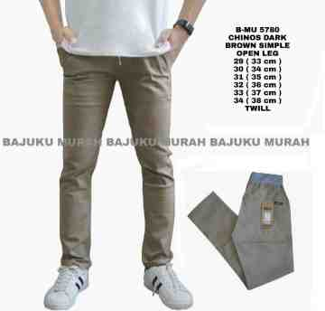 CELANA CHINOS DARK BROWN SIMPLE 5790
