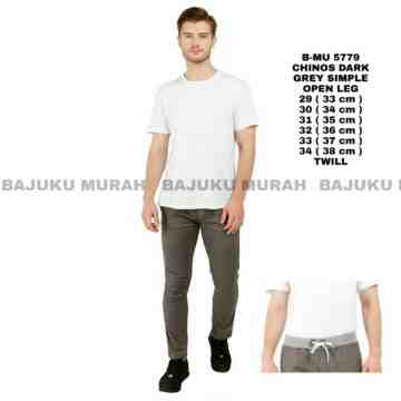 CELANA CHINOS DARK GREY SIMPLE 5779
