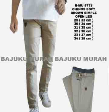 CELANA CHINOS SOFT BROWN SIMPLE 5778