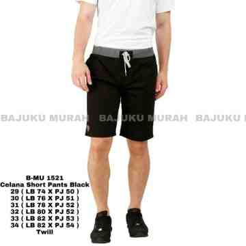 CELANA SHORT PANTS BLACK 1521