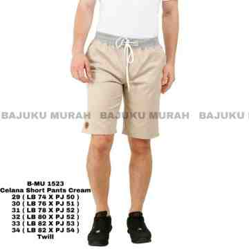 CELANA SHORT PANTS CREAM 1523
