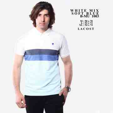 POLOSHIRT WHITE LIST NAVY TUTONE NAVY MIX TOSCA 8057