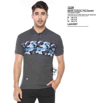 POLO SHIRT DARK GREY MIX BLUE ARMY 8063
