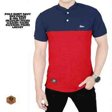 POLO SHIRT SANGHAI NAVY MIX RED 8201