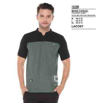 POLO SHIRT SHANGHAI BLACK MIX ARMY 8205