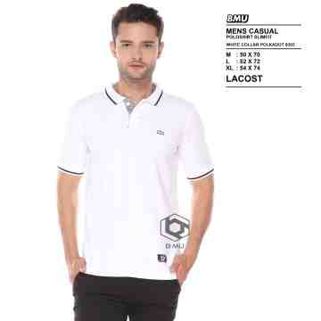 POLO SHIRT WHITE SQUARE PLAKET 8303