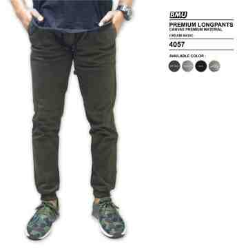 CELANA JOGGER GREEN ARMY SIMPLE 4057
