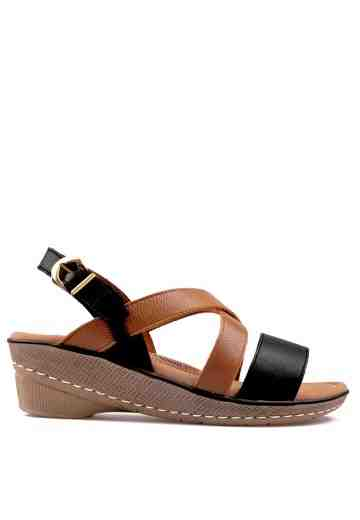 Vivere Wedges Sandals Black/Brown