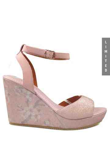 Aiko Wedges Sandals Pink