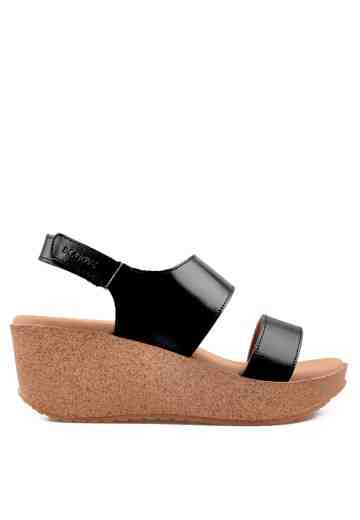 Betsy Wedges Sandals Black