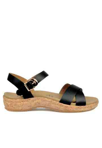 Crystal Sandals Black