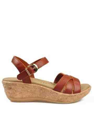 Cielo Wedges Sandals Tan
