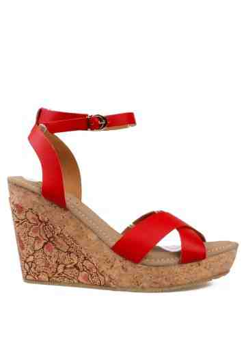 Lumire Wedges Sandals Red