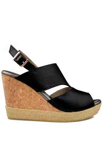 Monne Wedges Sandals Black