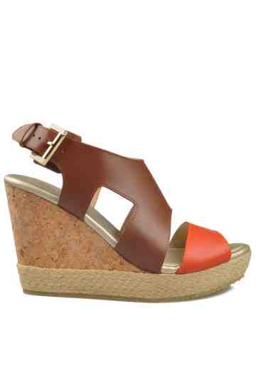 Rachel Wedges Sandals Orange/Brown