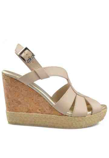 Isabel Wedges Sandals Beige