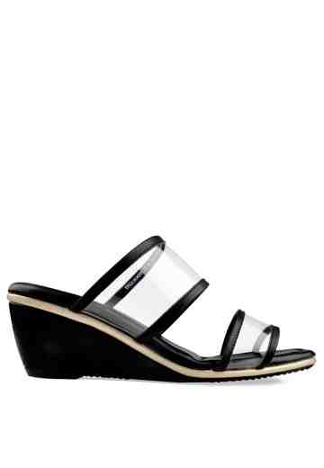 Erica Wedges Sandals Black