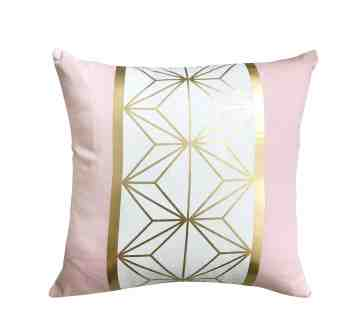 Harriet & Co Gold Geo Blush Cushion Cover image