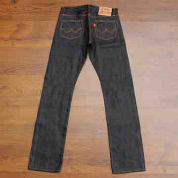 50's CAT 15 Oz Vintage Indigo Selvedge Unsanforized image